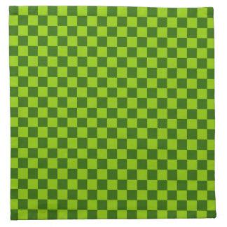 Grüne Kombinations-klassisches Schachbrett durch Serviette