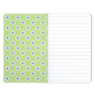 Grüne Kombinations-Kreise durch Shirley Taylor Taschennotizbuch