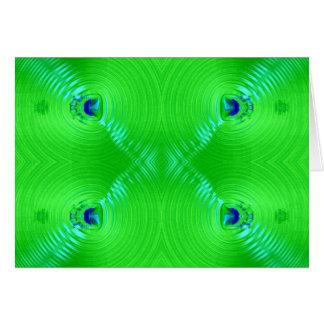 Grüne Kräuselung Karte