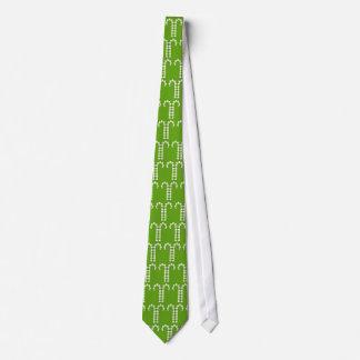 Grüne Krawatte Muster der Zuckerstangen