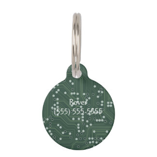 Grüne Leiterplatte-Hintergrund-Muster-Kunst Hundemarke