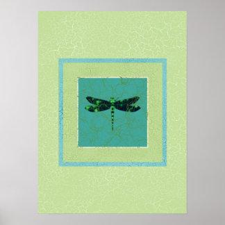 Grüne Libelle Poster