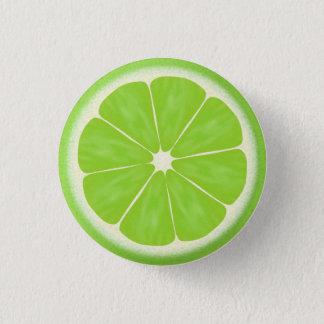 Grüne Limone Zitrusfrucht-Scheibe Runder Button 3,2 Cm