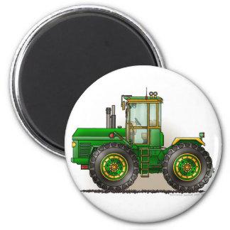 Grüne Monster-Traktor-Magneten Runder Magnet 5,7 Cm