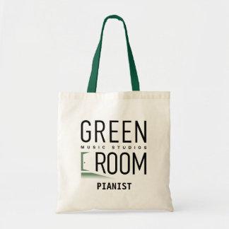 Grüne Raum-Musik-Studio-Taschen-Tasche für Tragetasche