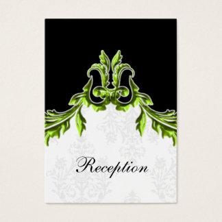 grüne schwarze Hochzeit Empfangs-Karten Visitenkarte