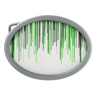 Grüne schwarze Linie Oval-Schnalle Ovale Gürtelschnallen