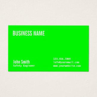 Grüne Sicherheits-Ingenieur-NeonVisitenkarte Visitenkarte
