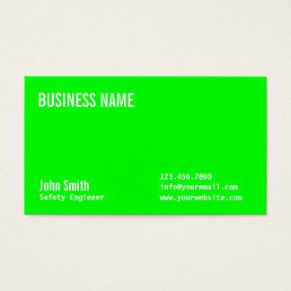 Grüne Sicherheits-Ingenieur-NeonVisitenkarte Visitenkarten