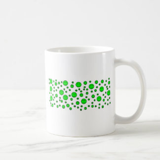 Grüne smiley kaffeetasse