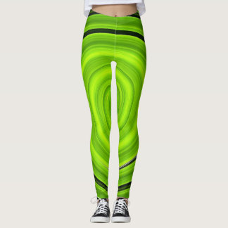 Grüne Spirale Leggings