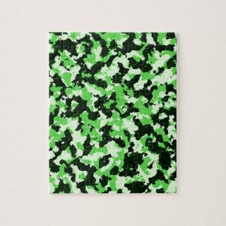 Grüne Tarnung Puzzle