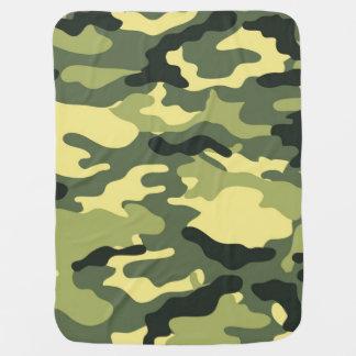 Grüne Tarnungs-Camouflagebeschaffenheit Babydecke