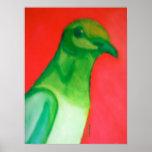 Grüne Tauben-Kunst Plakatdrucke