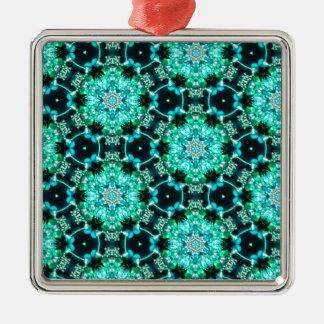 Grüne Tilly-Spitze Silbernes Ornament