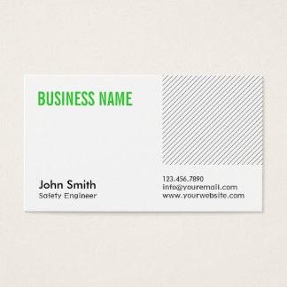 Grüne Titel-Sicherheits-Ingenieur-Visitenkarte Visitenkarte