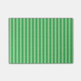 Grüne und hellgrüne Streifen Post-it Klebezettel