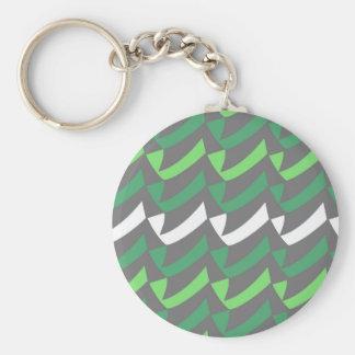 Grüne und weiße Karos Schlüsselanhänger