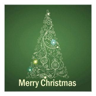 Grüne Weihnachtsgruß-Karte Personalisierte Einladungen