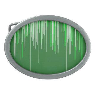 Grüne weiße Linie Oval-Schnalle Ovale Gürtelschnallen