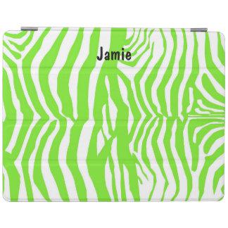 Grüne Zebra-Druck iPad Abdeckung iPad Hülle