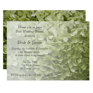 Grüner Annabelle Hydrangea-Posten-Hochzeits-Brunch 12,7 X 17,8 Cm Einladungskarte
