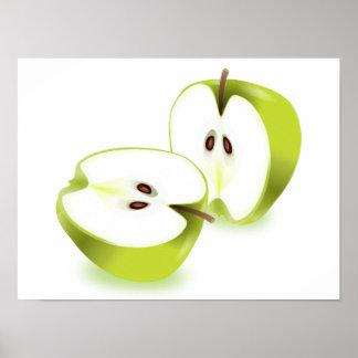 Grüner Apfel Poster