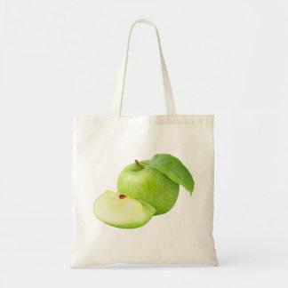 Grüner Apfel Tragetasche