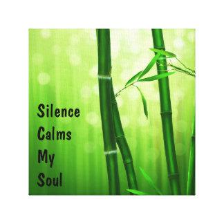 Grüner Bambus - Ruhe beruhigt mein Soul Galerie Gefaltete Leinwand