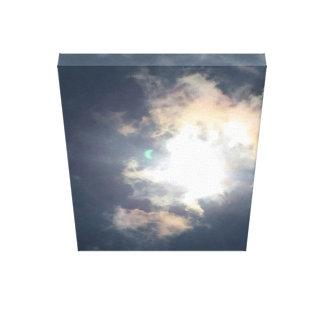 Grüner Blitz - Sonnenfinsternis, am 21. August Leinwanddruck
