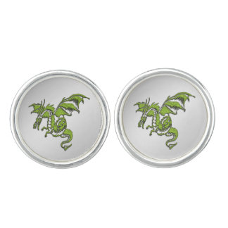 Grüner Drache Manschetten Knöpfe