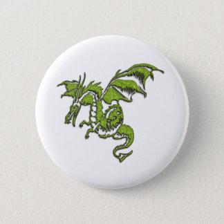 Grüner Drache Runder Button 5,7 Cm