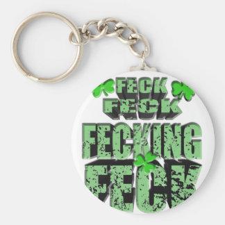 grüner Feck mit Kleeblatt Schlüsselanhänger