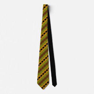 Grüner gelber moderner Punkt Individuelle Krawatte