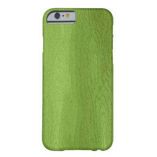 Grüner hölzerner Entwurf iPhone 6 Kasten Barely There iPhone 6 Hülle