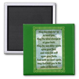 Grüner irischer Segen Quadratischer Magnet