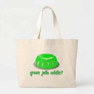 Grüner Jello Süchtiger Einkaufstasche