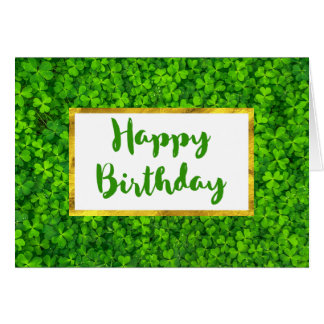 Grüner Klee mit IMITAT Grußkarte