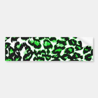 Grüner Leopard-Druck Autoaufkleber