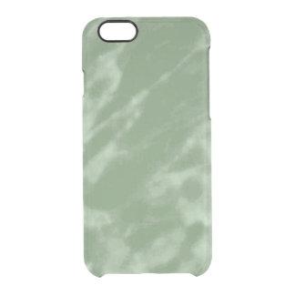 Grüner Marmor Durchsichtige iPhone 6/6S Hülle