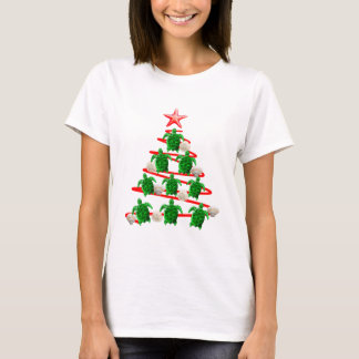Grüner Meeresschildkröte-Weihnachtsbaum T-Shirt