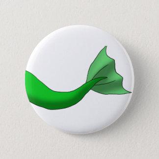 Grüner Meerjungfrau-Schwanz Runder Button 5,1 Cm