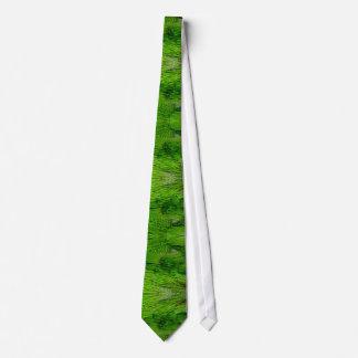 Grüner Papagei versieht Krawatte mit Federn