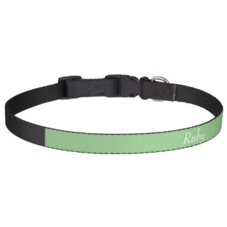 Grüner personalisierter Haustier-Kragen Apples Hundehalsband