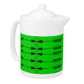 Grüner Pfeil-Druck-Teetopf