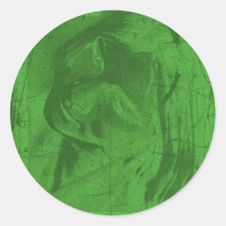 Grüner Reflexions-Aufkleber