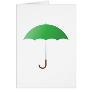 Grüner Regenschirm Karte