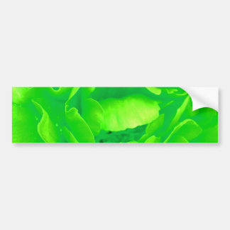 Grüner Rosen-Autoaufkleber - kundengerecht
