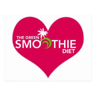 Grüner Smoothie-Diät-Plan Postkarte