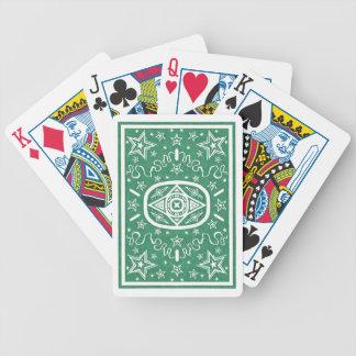 Grüner Stern zurück fahren Karten rad